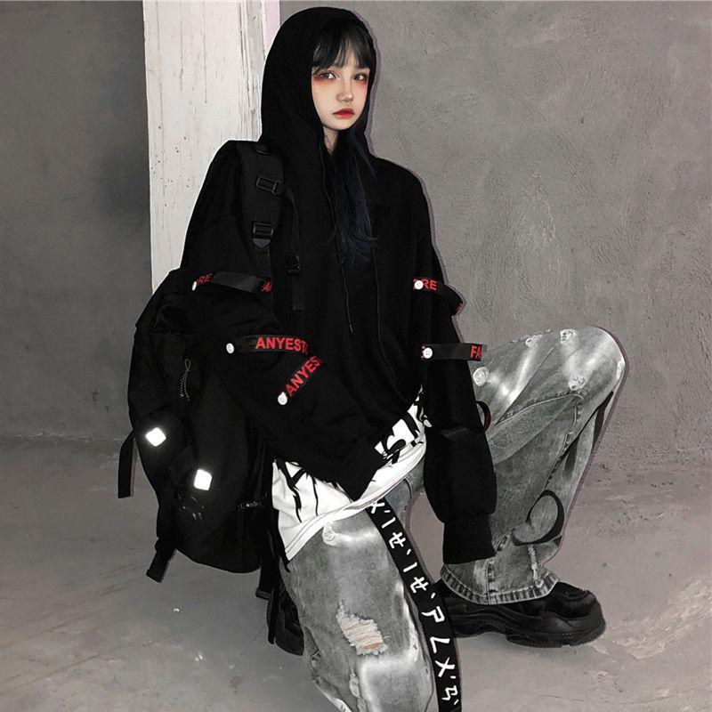 Женский пуловер в стиле Dark Harajuku